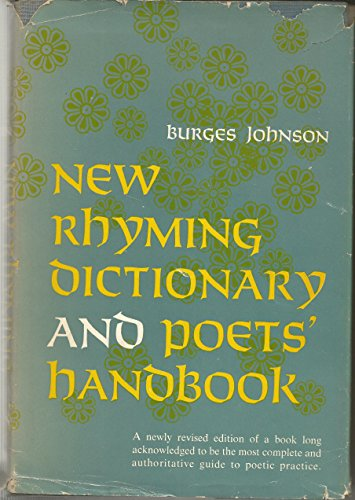 9780060122058: New Rhyming Dictionary and Poets Handbook