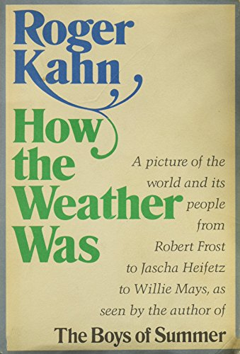 9780060122430: How the weather was