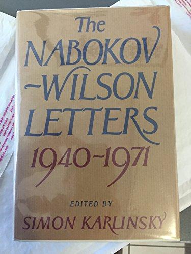 9780060122621: Nabokov-Wilson Lettes: 1940-1971