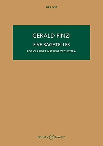 9780060123260: Five Bagatelles op. 23a - Clarinet and String Orchestra - STUDYSCORE