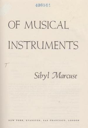 9780060127763: A Survey of Musical Instruments