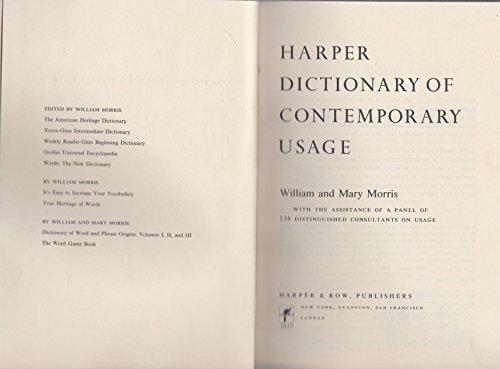 9780060130626: Harper dictionary of contemporary usage