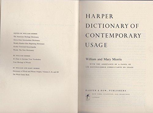 9780060130626: Harper dictionary of contemporary usage
