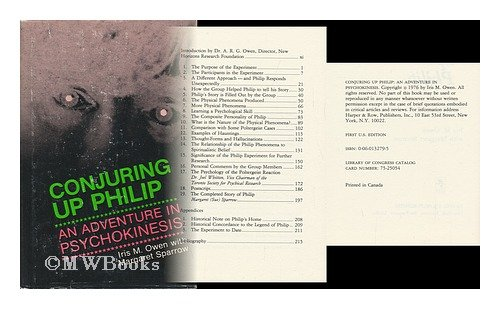 9780060132798: Conjuring up Philip: An Adventure In Psychokinesis