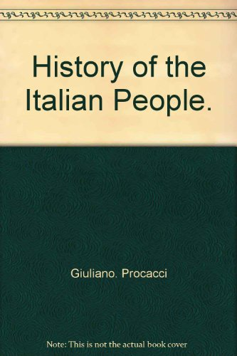 9780060134334: HISTORY OF ITALIAN PEOPLE