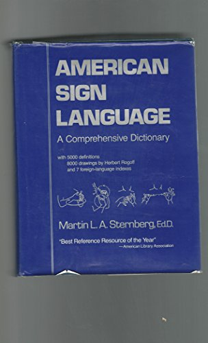 9780060140977: American Sign language: A Comprehensive Dictionary