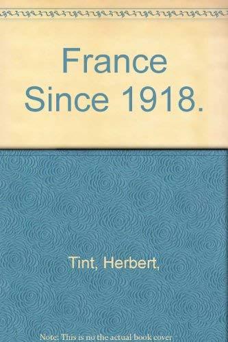 9780060143183: France Since 1918.