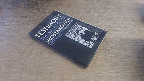 9780060144760: Testimony: The Memoirs of Dmitri Shostakovich