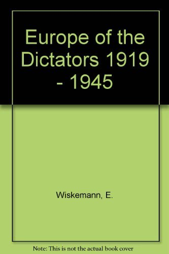 9780060146924: Europe of the Dictators, 1919-1945
