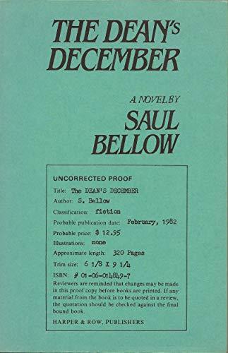 9780060148492: Dean's December: A Novel