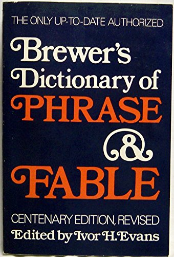 9780060149031: Brewers Dictionary of Phrase and Fable Edition