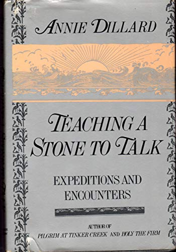 Teaching A Stone To Talk Expeditions And Encounters