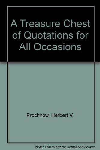 9780060150433: A Treasure Chest of Quotations for All Occasions
