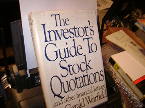 9780060150501: The Investor's Guide to Stock Quotations and Other Financial Listings