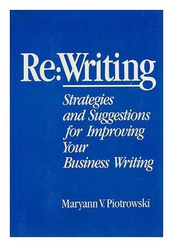 9780060160913: Re: Writing : Strategies and Suggestions for Improving Your Business Writing
