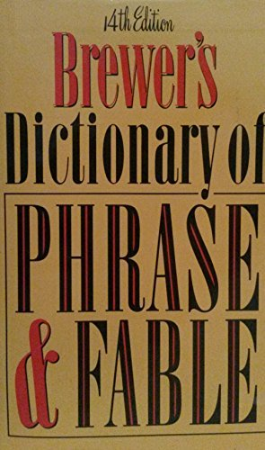 9780060162009: Brewer's Dictionary of Phrase and Fable