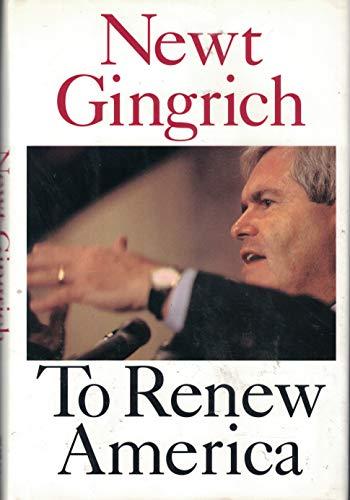 9780060173364: To Renew America