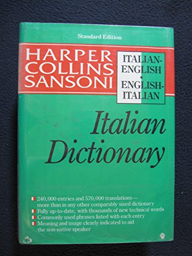 9780060178031: The Harpercollins English-Italian, Italian English Dictionary (HarperCollins Bilingual Dictionaries)