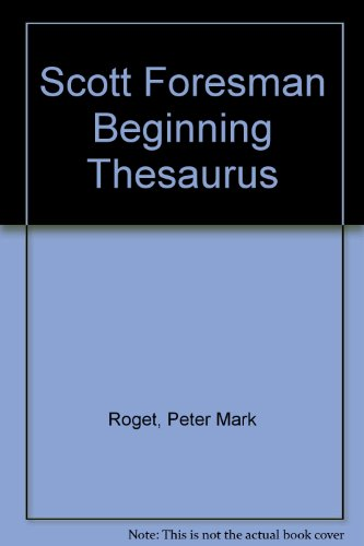 9780060179038: Scott Foresman Beginning Thesaurus