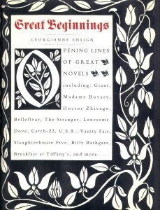 9780060183318: Great Beginnings: Opening Lines of Great Novels