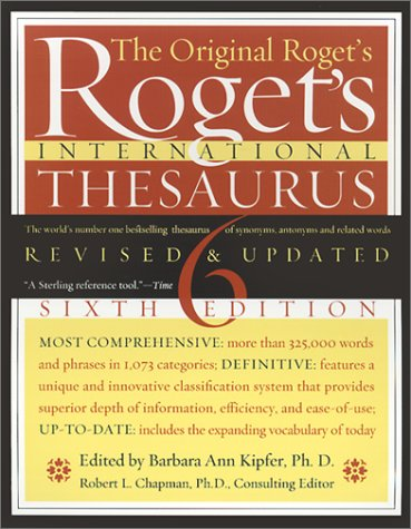 9780060185756: Roget's International Thesaurus, Indexed, Sixth Edition Revised & Updated