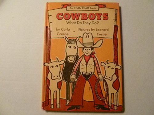 9780060220815: Cowboys: What Do They Do? (An I Can Read Book)