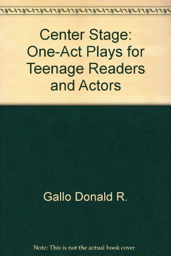 9780060221706: Center stage: One-act plays for teenage readers and actors