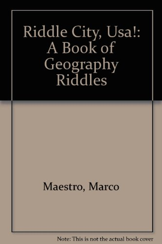 9780060233686: Riddle City, USA!: A Book of Geography Riddles