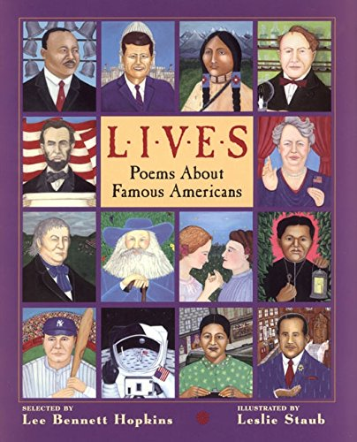 9780060277673: Lives: Poems About Famous Americans