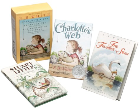 9780060292836: Three Beloved Classics by E.B. White: Charlotte's Web, Stuart Little, and The Trumpet of the Swan (Boxed Set)