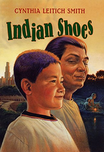 Indian Shoes 9780060295325 What do Indian shoes look like, anyway? Like beautiful beaded moccasins...or hightops with bright orange shoelaces? Ray Halfmoon prefers hightops, but he gladly trades them for a nice pair of moccasins for his Grampa. After all, it's Grampa Halfmoon who's always there to help Ray get in and out of scrapes -- like the time they are forced to get creative after a homemade haircut makes Ray's head look like a lawn-mowing accident. This collection of interrelated stories is heartwarming and laugh-out-loud funny. Cynthia Leitich Smith writes with wit and candor about what it's like to grow up as a Seminole-Cherokee boy who is just as happy pounding the pavement in windy Chicago as rowing on a take in rural Oklahoma.