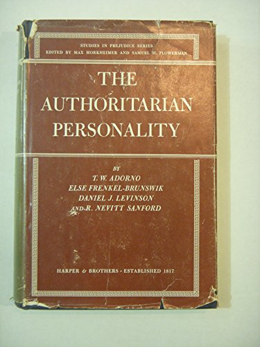 9780060301507: The Authoritarian Personality