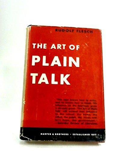 9780060321901: Art of Plain Talk