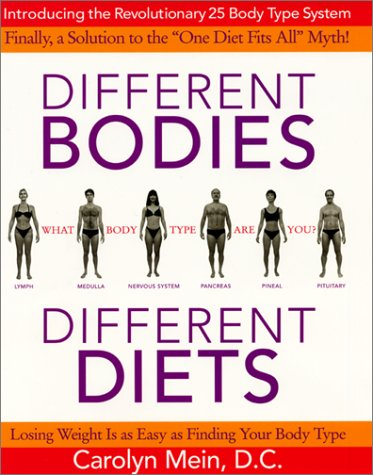 9780060393908: Different Bodies, Different Diets: Introducing the Revolutionary 25 Body Type System