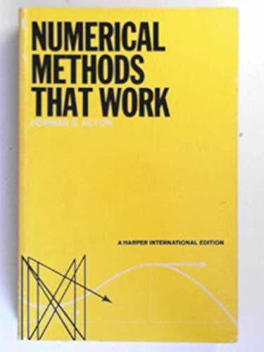 9780060401610: Numerical Methods That Work