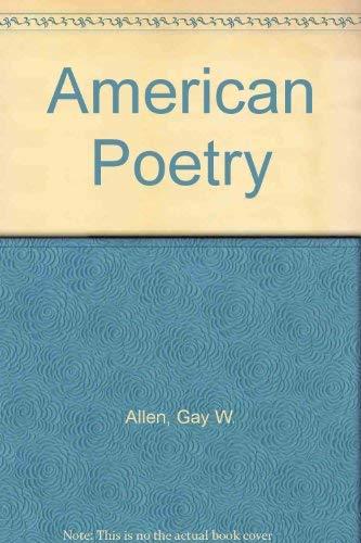 9780060402204: American Poetry