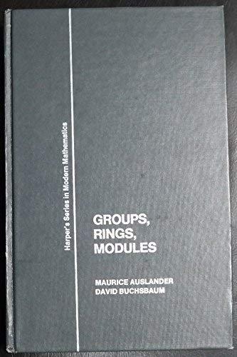 9780060403874: Groups, Rings, Modules (Harper's series in modern mathematics)