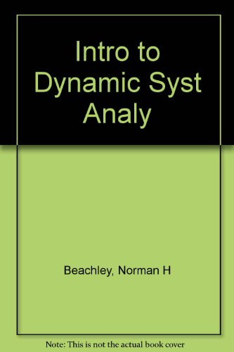 9780060405571: Introduction to Dynamic System Analysis