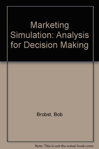 9780060406295: Marketing Simulation: Analysis for Decision Making