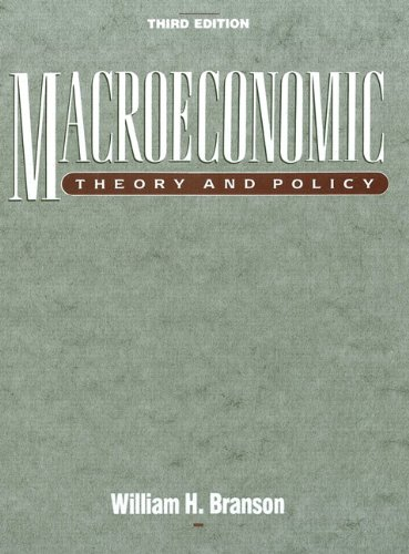 9780060409326: Macroeconomic Theory and Policy (3rd Edition)