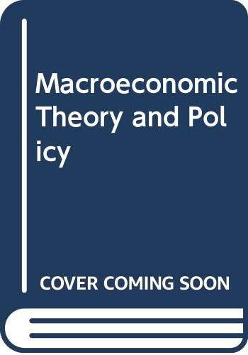 9780060409357: Macroeconomic Theory and Policy