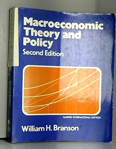 9780060409364: Macroeconomic theory and policy
