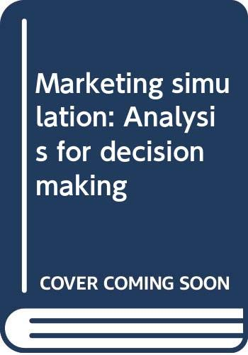 9780060409395: Marketing simulation: Analysis for decision making