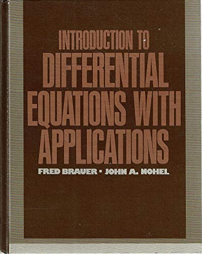 9780060409425: Introduction to Differential Equations With Applications