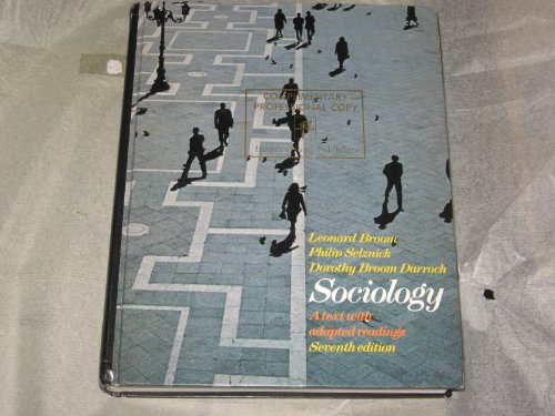 9780060409913: Sociology: A Text With Adapted Readings.
