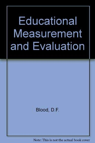 9780060410292: Educational Measurement and Evaluation