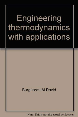 9780060410414: Engineering Thermodynamics with Applications