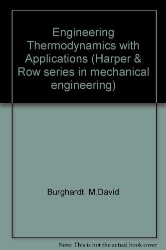 9780060410421: Engineering Thermodynamics with Applications (The Harper & Row series in mechanical engineering)