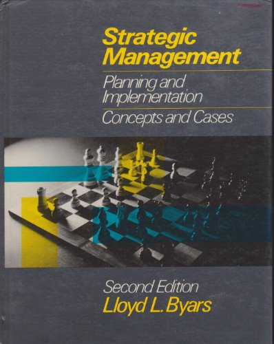 9780060410940: Strategic Management: Planning and Implementation