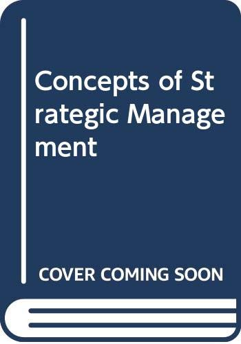9780060410957: Concepts of Strategic Management